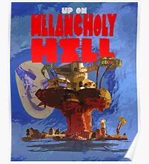 Auf Melancholie Hill - Gorillaz Poster