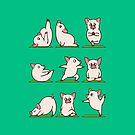 Pig Yoga  by Huebucket