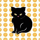 Little Black Cat by Sarah  Mac Illustration