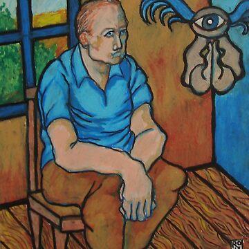 sitting man with angel by crowleyronan123
