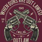 Outlaw Vintage Brutal T-shirt by artbaggage