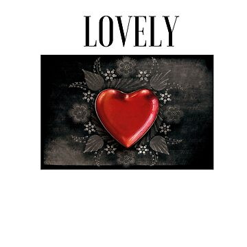 Heart,lovely, graphic t-shirt by cooltdesigns