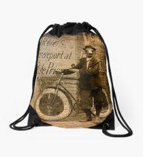 Delivery Boy Drawstring Bag