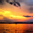 Norwalk Island Sunset by csegalas