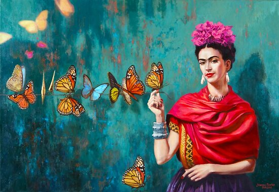 Image result for frida kahlo self portrait with butterflies