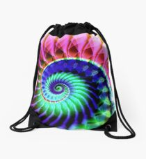 Spiraling Down Drawstring Bag