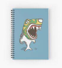 Wrestle that shark! Spiral Notebook