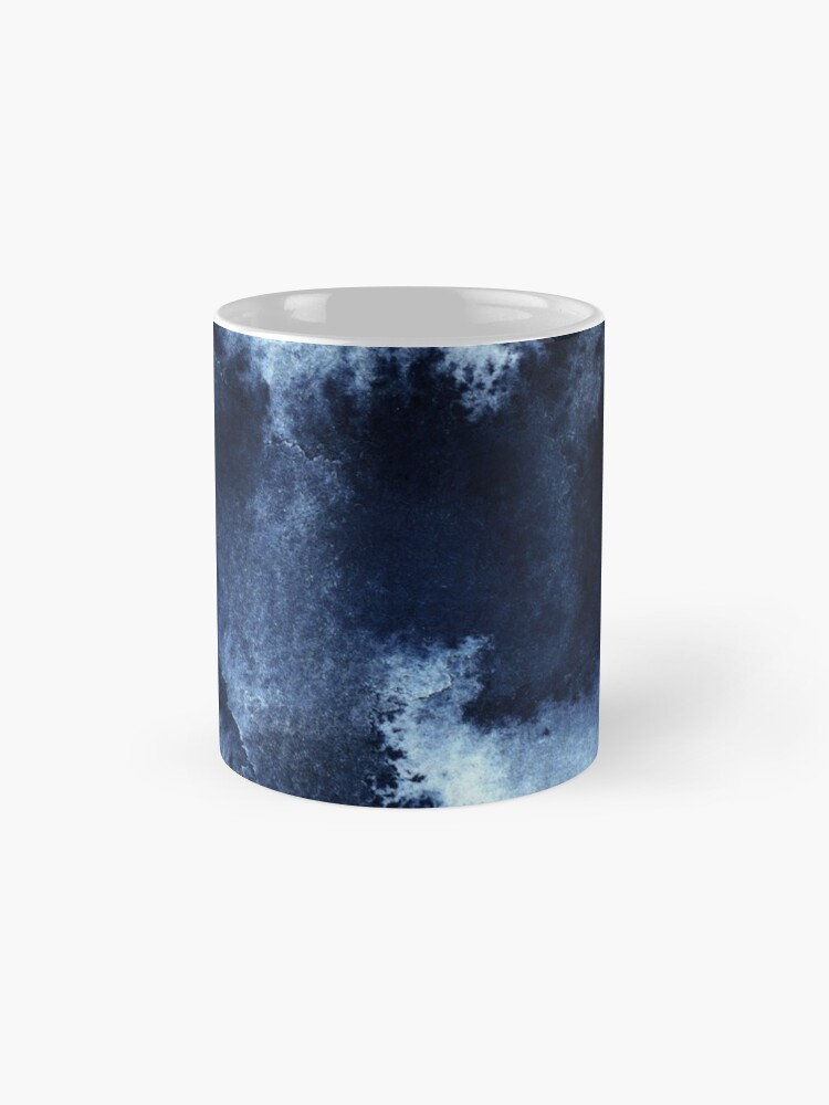 Alternate view of Indigo Nebula, Blue Abstract Painting Mug