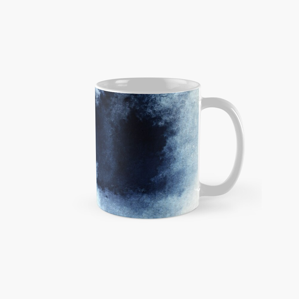Indigo Nebula, Blue Abstract Painting Mug