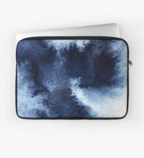 Indigo Nebula, Blue Abstract Painting Laptop Sleeve