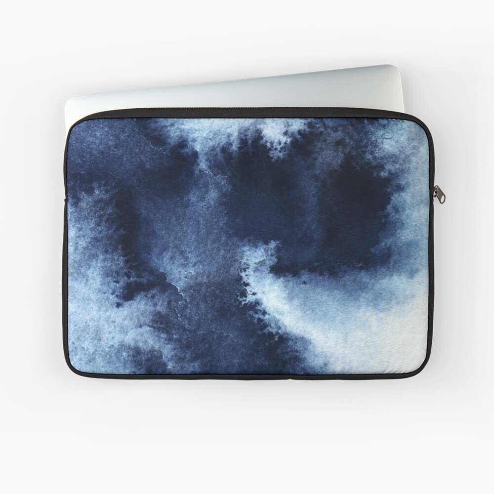 Indigo Nebula, Blue Abstract Painting Laptop Sleeve
