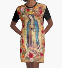 Our Lady of Guadalupe Virgin Mary Catholic Mexico Poster Graphic T-Shirt Dress
