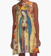 Our Lady of Guadalupe Virgin Mary Catholic Mexico Poster A-Line Dress