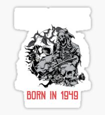 Happy Birthday Horror - Born In 1949 Sticker