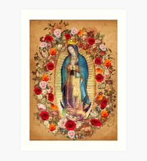 Our Lady of Guadalupe Virgin Mary Catholic Mexico Poster Art Print