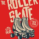 Roller Skate Old School T-shirt by artbaggage