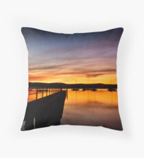 Saratoga sunset Throw Pillow