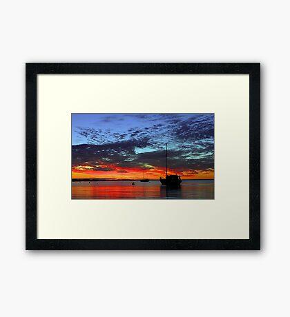 Boats At Dusk  Framed Print