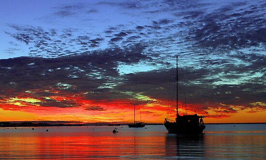 Boats At Dusk  by EOS20