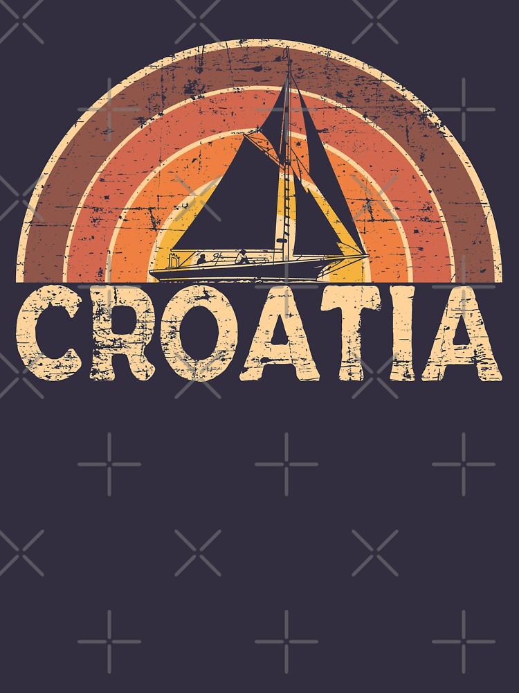 Vintage Kroatien Segeln Urlaub Design von dk80