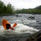 Stern Squirt on the Pemigewasset River by Wayne King