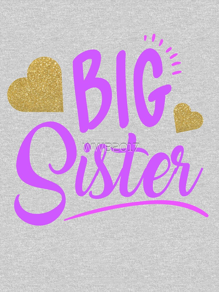 Big sister shirt gift for little girls by WWB2017