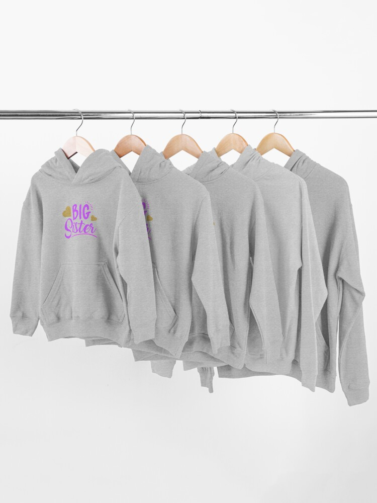 Alternate view of Big sister shirt gift for little girls Kids Pullover Hoodie