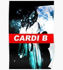 Cardi B- Blue  Poster