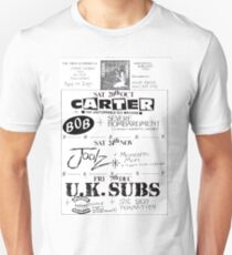 Hartlepool Town Hall Indie Punk Bands Flyer  Unisex T-Shirt