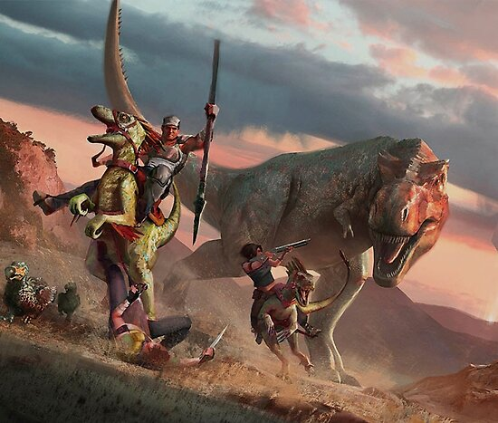 ark: survie évoluée | t-rex design », posters par aboutabove | redbubble