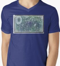 Peace Word Art Men's V-Neck T-Shirt