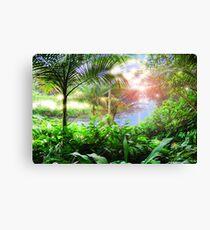 Streaming Hawaiian Sunlight Landscape Canvas Print