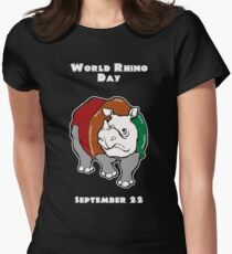World Rhino Day Women's Fitted T-Shirt