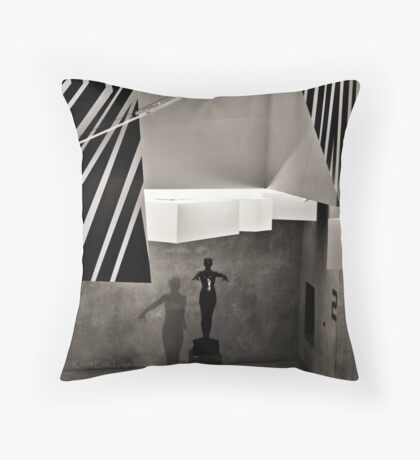 The Bronze Figure Throw Pillow