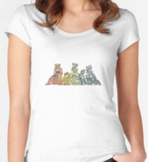 Rainbow of Books Women's Fitted Scoop T-Shirt
