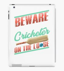 Serial Cricketer on the Loose Cricket Lover iPad Case/Skin
