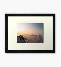 Foggy Morning in Edmonton Framed Print
