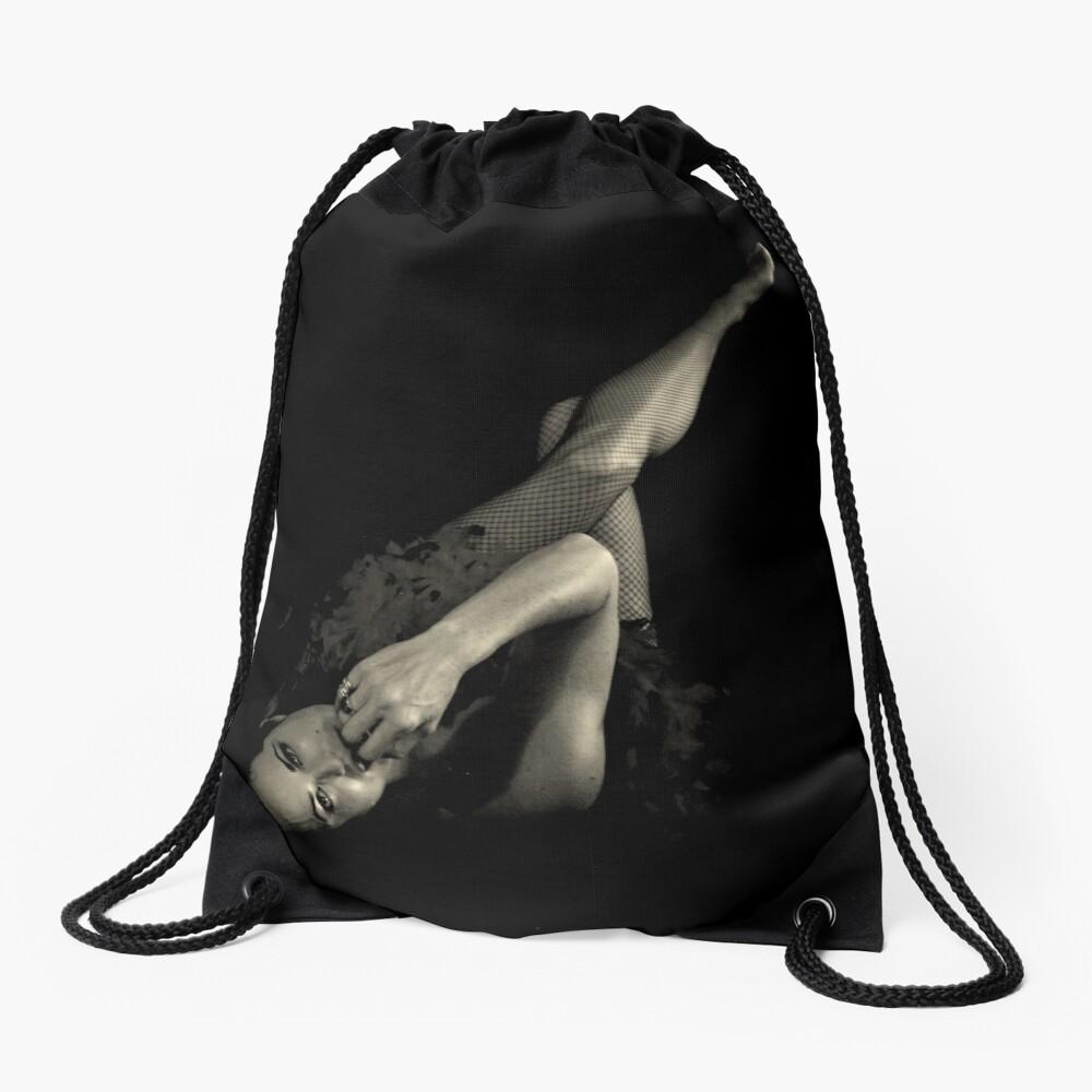 Pin-up in B&W Drawstring Bag