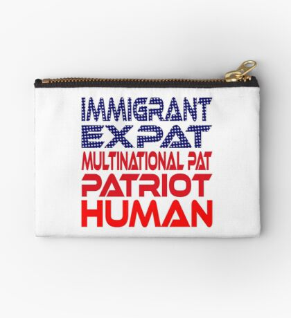 Multinational Thoughts on Our Patriotism: Immigrant Studio Pouch