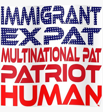 Multinational Thoughts on Our Patriotism: Immigrant Poster