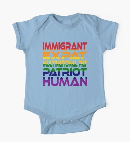 Multinational Thoughts on Our Patriotism: Immigrant (Rainbow) Kids Clothes
