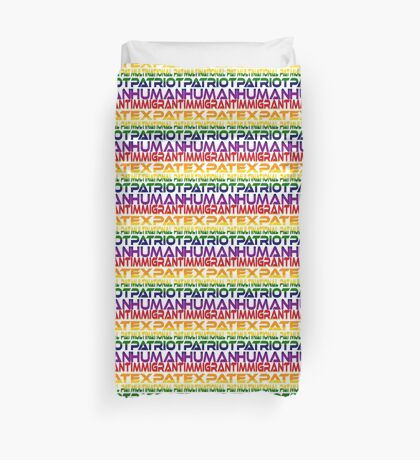 Multinational Thoughts on Our Patriotism: Immigrant (Rainbow) Duvet Cover