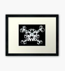 Skull And Bones : Cartoon Tattoo Style with Stars, Spade, and Tattoos Framed Print