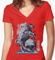 The Game of Kings, Wave Three: The White King's Knight Women's Fitted V-Neck T-Shirt