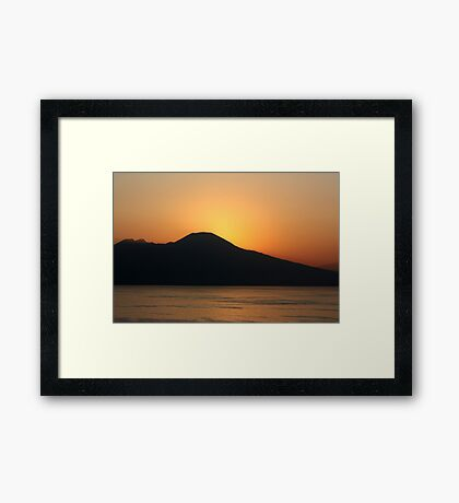 Sunrise At Vesuvius Framed Print