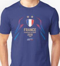 France Champion Du Monde 2018 • Les Bleus • Football World Cup Champion 2018 ID 1-1 Unisex T-Shirt