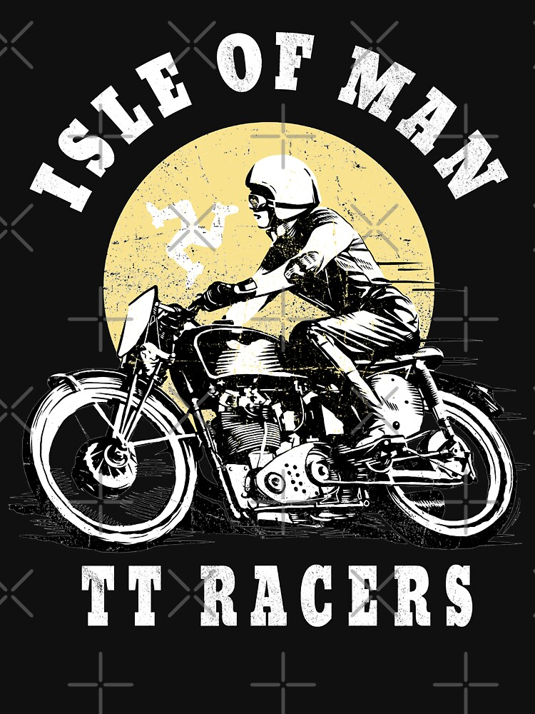 Isle Of Man TT Manx Flag Retro Vintage Biker Racing by thespottydogg