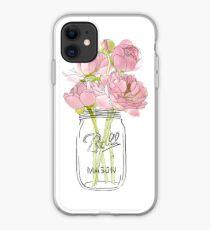 Flowers in Mason Jar iPhone Case