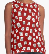 Red Mahjong Sleeveless Top