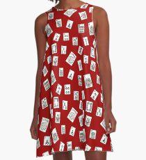 Red Mahjong A-Linien Kleid